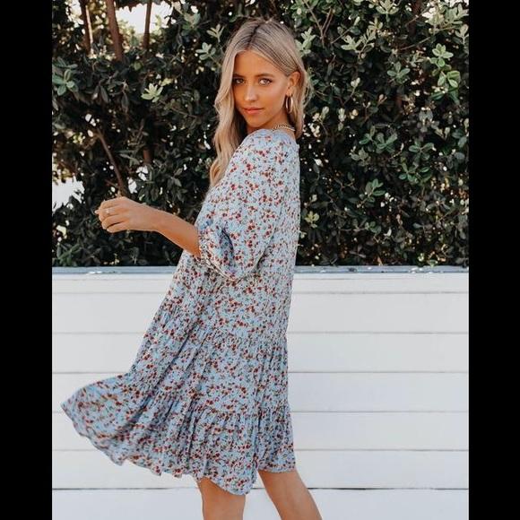 VICI   Ain't no sunshine floral tiered dress NWOT